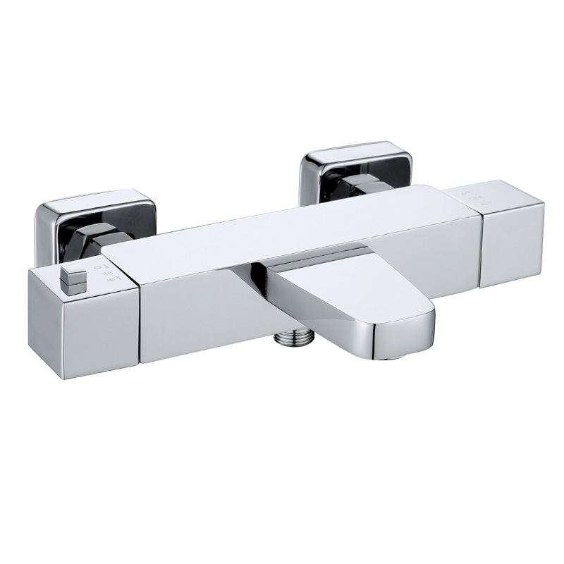 Modern square design brass thermostatic mixer ATS442
