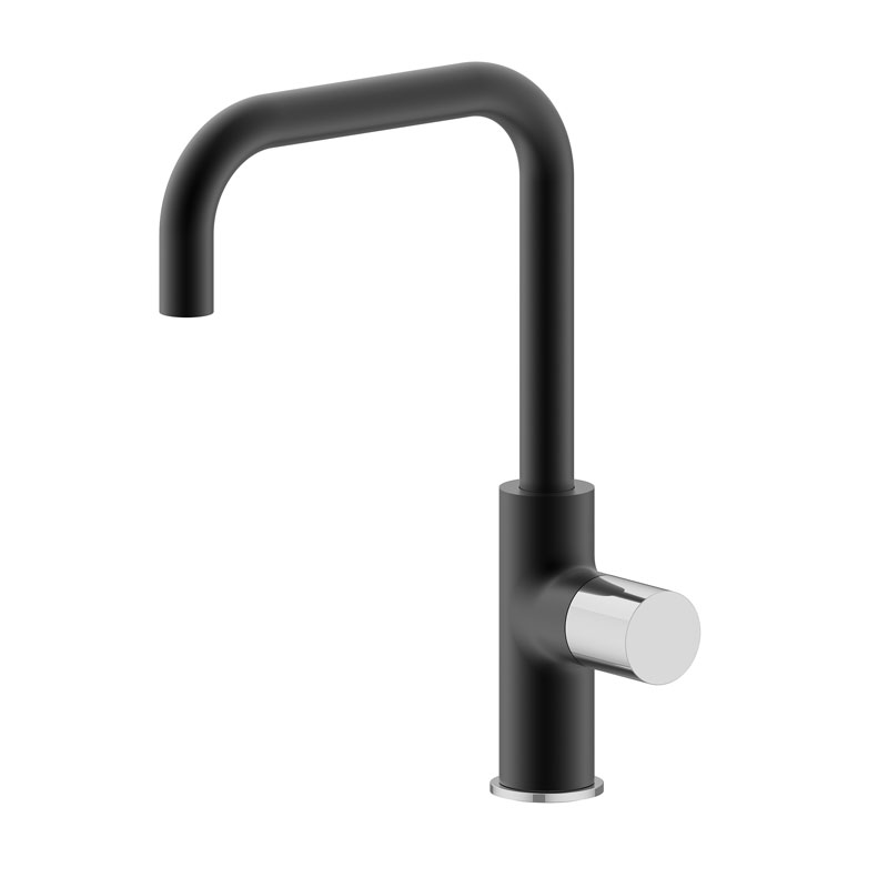 Matte black kitchen mixer tap chrome handle WK795BC