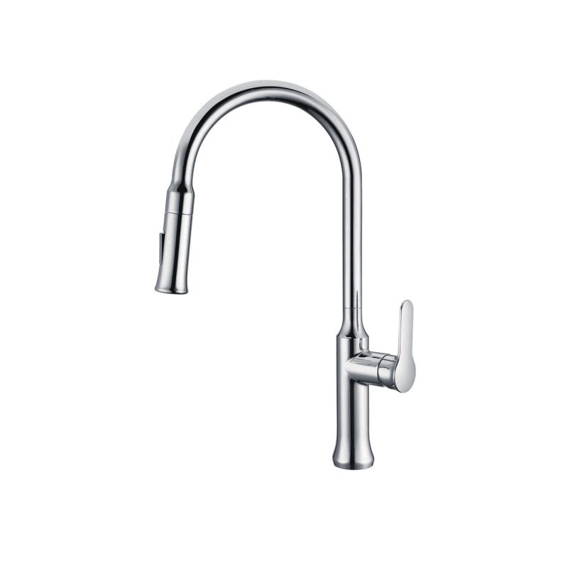 Chrome DZR brass pull-out kitchen mixer tap WK1085-1
